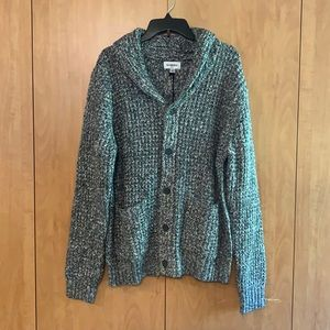 NWT Goodfellow & co Grey knit button down pockets